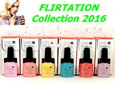 CND Gel Polish UV Color FLIRTATION Collection Set of 6 Colors