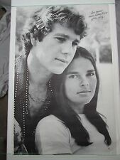 Vintage 1970 LOVE STORY Cover Theme Poster Ali Macgraw Ryan O'Neal Paramount NOS