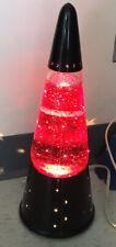 Vintage RED Glitter Lava Brand Motion Lamp Black Base, Wizard
