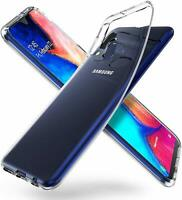 Samsung Galaxy A20E Transparent Hülle Durchsichtig Case Clear Cover Liquid