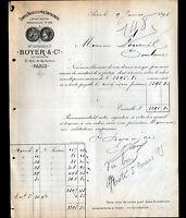 """PARIS (II°) ETOFFES pour AMEUBLEMENT """"BERNIER / BOYER & Cie"""" en 1895"""