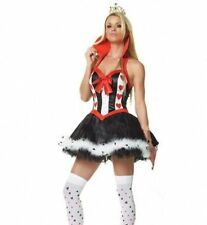 Queen of hearts halloween outfit alice in wonderland sexy costume Fancy Dress M