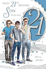 XPRESS YOURSELF 21 TODAY SON - 21ST BIRTHDAY CARD - CELEBRITY STYLE SERIES