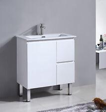 Bathroom Ancona Narrow Vanity Cabinet with Ceramic Basin 750x360mm AC7536