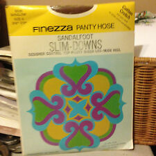 Wow! Vintage Finezza sunglow pantyhose size 4 queen