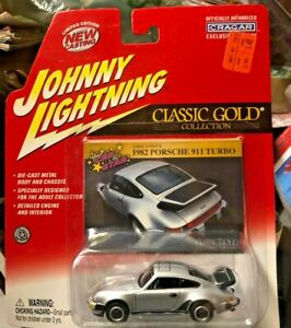 1982 PORSCHE 911 TURBO JOHNNY LIGHTNING CLASSIC GOLD W/ CARD NEW CASTING REAL