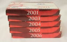 2001, 2003, 2004, 2005 and 2006 US Mint Silver Proof Sets