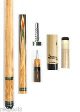 Jacoby Custom Cue 0316-62 - Olivewood, Leopardwood -  12.75mm Edge Hybrid Shaft