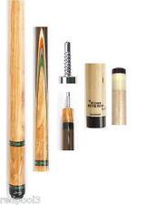 Jacoby Custom Cue 0316-62 - Olivewood, Leopardwood -  12.75mm Edge Hybrid Shaft