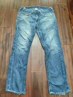 True Religion Straight Cut Jeans Men's 34 Waist Distressed