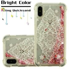 Apple iPhone XS / X Bling Hybrid Liquid Glitter Rubber TPU Protective Case Cover