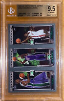 💎2003-04 LeBron James/Chris Bosh TOPPS ROOKIE MATRIX RC FBJ BGS 9.5 PSA fleer
