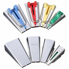 4Size Fabric Bias Tape Maker Tool Sewing Quilting-6mm 12mm 18mm 25mm SET-NEW