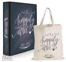 Wedding Planner Diary/Journal/Organiser - Happily ever after chalkboard & tote