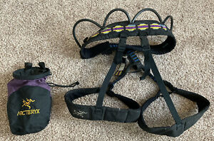 Arcteryx Climbing Harness and Chalk Bag Rock Mountain