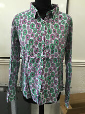 Women's Fitted Floral Collared Tops & Shirts