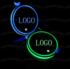 (2) For SUBARU Colorful LED Car Cup Holder Pads Mats Interior Atmosphere Lights