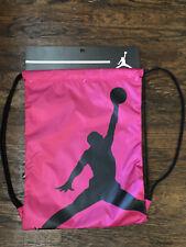 Nike Jordan Jumpman Drawstring Backpack Active Pink ISO Gym Sack 9A1940-A5P  NWT 91d6211f2d393