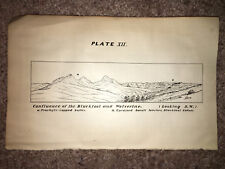 1877 Sketch Plate Showing the Confluence of Blackfoot and Wolverine Looking SW