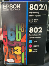 Epson T802XL-BCS Ultra Black High Capacity and Color Combo Pack Exp 4/2024