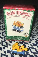 Hallmark 1998 Merry Miniatures Disney Mickey Express #2 Pluto's Coal Car