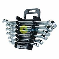 6Pce Open-Ended Spanner Set 6-17 mm Haute Qualité Entièrement Poli Finition