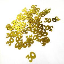 Gold Number Glitz Shiny Confetti Metallic Anniversary Birthday Party Table Decor