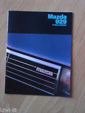 Mazda 929 4-deurs Sedan (Serie HB) Prospekt / Brochure / Depliant, NL, 12.1981