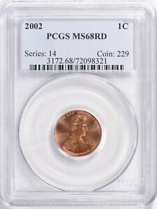 2002 LINCOLN MEMORIAL CENT PENNY 1c PCGS MS68 RD