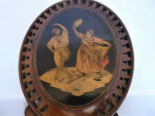 Antique Italian Sorrento Ware Hand Mirror Marquetry