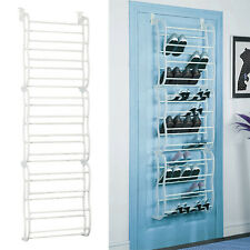 White 36Pair Over-The-Door Shoe Rack Wall Hanging Closet Organizer Storage Stand