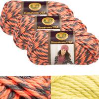 3pk Lion Brand Hometown USA 100% Acrylic Yarn Super Bulky #6 Knit Crochet Skeins