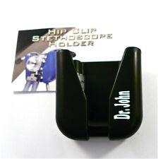 Stethoscope  Hip Clip Holder ID, belt clip hip holder,custom,your name n white,