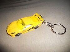 TOYOTA CELICA RACE CAR DIECAST MODEL TOY CAR KEYCHAIN KEYRING NEW YELLOW