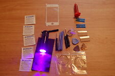 iPhone 5, 5S Front Glass, Screen Repair Kit White, loca glue, wire, uv torch