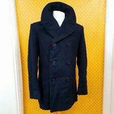 Vtg 2010 US Navy Wool Enlisted Bridge naval reefer mariner Pea Coat Jacket 38R