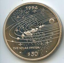 GS1217 - Marshall Islands 50 Dollars 1994 KM#178 Silber Solar System 1oz Unze