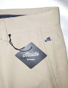 Bonobos Maide Golf Pants Trousers Men Size 30x32 Khaki NWT $108.00