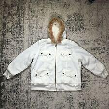 Oleg Cassini Women's Off White Winter Coat Size XXXL