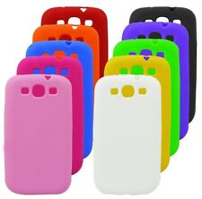 10 X Silicone Rubber Gel Color Skin Case for Samsung Galaxy S III S3 i9300 Phone