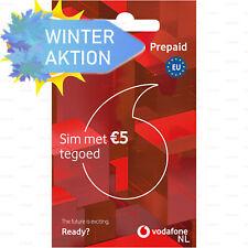 Winter-Aktion SIM Karte Anonym Einsatzbereit Aktiviert 4G Vodafone Niederlande