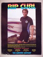 Rip Curl Wet Suit PRINT AD - 1978 ~ Bruce Raymond, wetsuit, wet suits