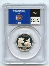 2004 S 25C Silver Wisconsin Quarter PCGS PR69DCAM