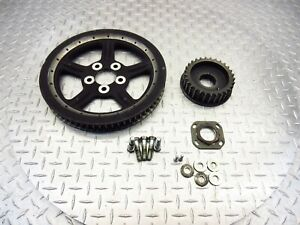 2009 07-12 Harley Davidson XL1200N Nightster Rear Front Pulley Sprockets Bolts