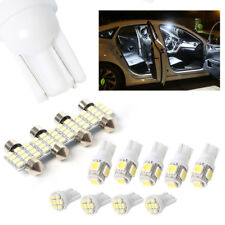 13Pcs Car White LED Lights Kit for  Interior & Dome & License Plate Lamp Bulbs