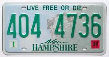 """New Hampshire """"Old Man of the Mountain"""" License Plate (RANDOM PLATE NUMBER)"""