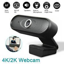 4K/2K Webcam UHD Kamera mit Mikrofon USB 3.0 Videochat Skype für PC Laptop Mac