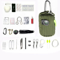 Survival Kit 550 Paracord Grenade 29 Tools EDC Camping Fishing Emergency Gear