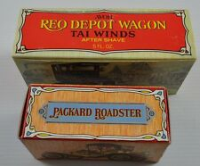 Lot Of 2 Collectible Avon Reo Depot Wagon Tai Winds Packard Roadster Oland Nib