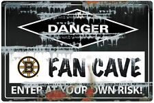 NHL BOSTON BRUINS FAN CAVE SIGN